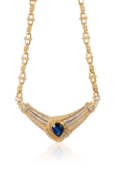 18K Honey Gold™ Blueberry Sapphire™ 7  5/8 cts. Necklace | JTAY 9