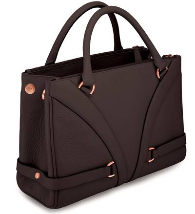 Gladiator HandbagÖ - Chocolate Pebbled LeatherÖ | LBGLA1011CHO