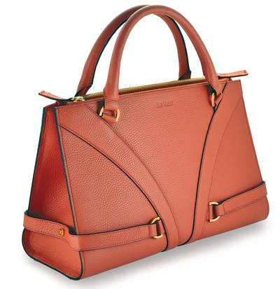 Gladiator HandbagÖ - Coral Pebbled Leather | LBGLA1011CRL
