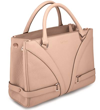 Gladiator HandbagÖ - Peach & Nude Pebbled LeatherÖ | LBGLA1011NUD