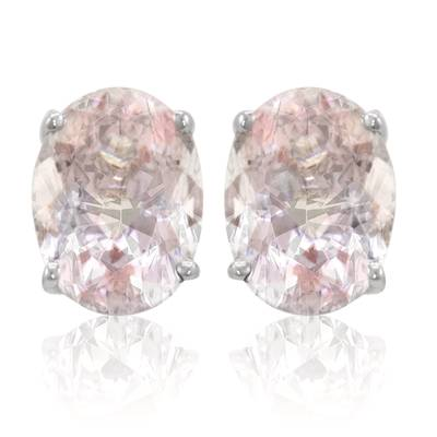 14K Vanilla Gold® Peach Morganite™ 1  7/8 cts. Earrings | LQL 403