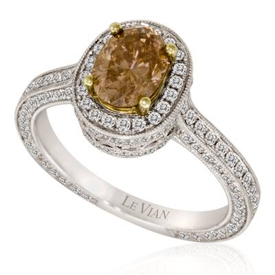 18K Two Tone Gold Ring with Chocolate Diamonds® 1 cts., Vanilla Diamonds® 1 cts. | LSTN 4726