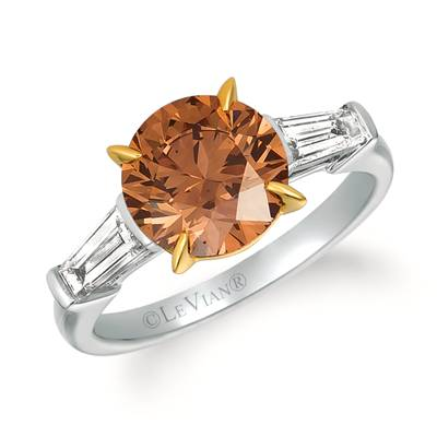 18K Two Tone Gold Ring with Chocolate Diamonds® 3 cts., Vanilla Diamonds® 1/2 cts. | MEDU 6