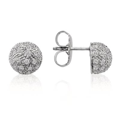 18K Vanilla Gold® Earrings with Vanilla Diamonds® 1 cts. | NPM 1