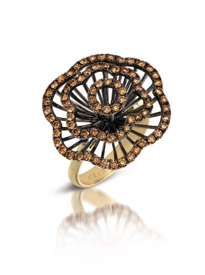 14K Honey Gold™ Ring with Chocolate Diamonds® 1  1/4 cts. | PEAA 28