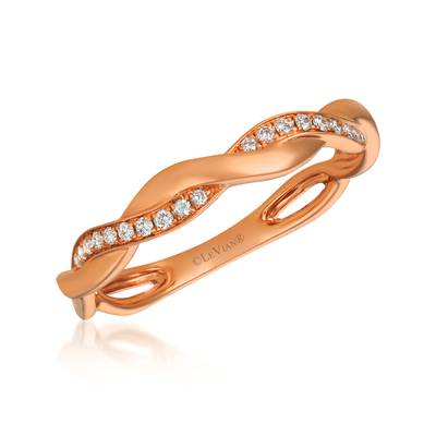 14K Strawberry Gold® Ring with Vanilla Diamonds® 1/10 cts. | PHAU 1RG