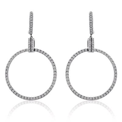 14K Vanilla Gold® Earrings with Vanilla Diamonds® 1  1/2 cts. | POML 74