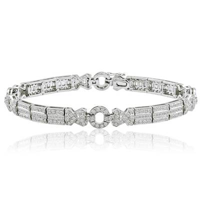 18K Vanilla Gold® Bracelet with Vanilla Diamonds® 3  7/8 cts. | PZMC 39
