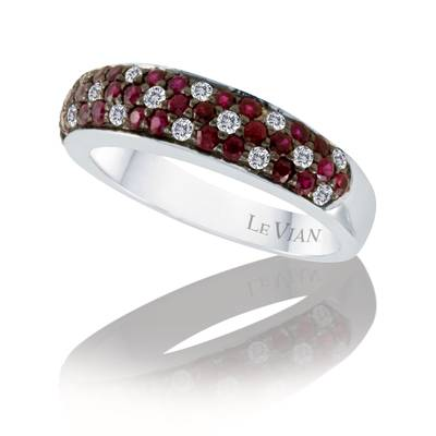 14K Vanilla Gold® Passion Ruby™ 5/8 cts. Ring with Vanilla Diamonds® 1/5 cts. | PZUD 3