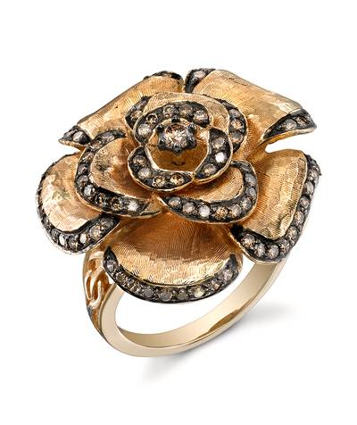 14K Honey Gold™ Ring with Chocolate Diamonds® 1 cts. | PZUT 3