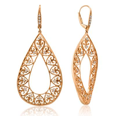 18K Strawberry Gold® Earrings with Vanilla Diamonds® 1/5 cts., Fancy Diamonds 1/4 cts. | SDAA 26