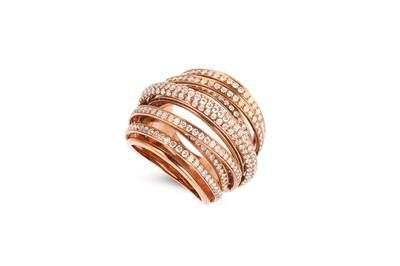 18K Strawberry Gold® Ring with Vanilla Diamonds® 2  3/4 cts. | SOAA 40