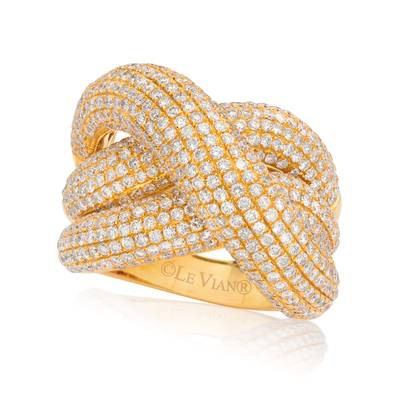 18K Honey Gold™ Ring with Vanilla Diamonds® 4 cts. | SOAA 56