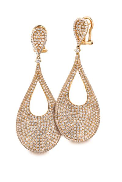 18K Honey Gold™ Earrings with Vanilla Diamonds® 4  7/8 cts. | SOAB 21