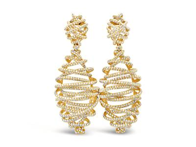 18K Honey Gold™ Earrings with Vanilla Diamonds® 9  3/4 cts. | SOAB 61
