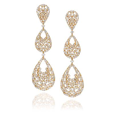18K Vanilla Gold® Earrings with Vanilla Diamonds® 8  5/8 cts. | SOAB 74