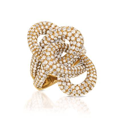 18K Strawberry Gold® Ring with Vanilla Diamonds® 7  1/3 cts. | SOAC 20