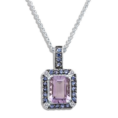 14K Vanilla Gold® Grape Amethyst™ 1  3/8 cts., Blueberry Sapphire™ 3/8 cts. Pendant with Vanilla Diamonds® 1/20 cts. | SUIP 2