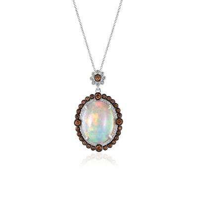 18K Vanilla Gold® Neopolitan Opal™ 10 1/3 cts. Pendant with Chocolate Diamonds® 5/8 cts., Vanilla Diamonds® 1/5 cts. | SUXS 202P