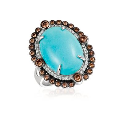 18K Vanilla Gold® Robins Egg Blue Turquoise™ 7 cts. Ring | SUXS 308