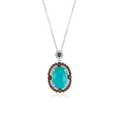 18K Vanilla Gold® Robins Egg Blue Turquoise™ 7 cts. Pendant | SUXS 309
