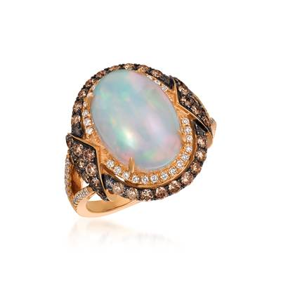 18K Strawberry Gold® Neopolitan Opal™ 3 cts. Ring | SVEI 4