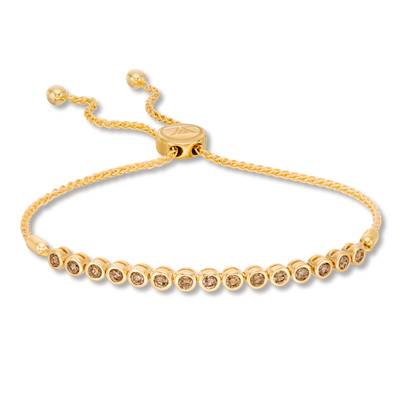 14K Honey Gold™ Bolo Bracelet with Nude Diamonds™ 7/8 cts. | SVFE 83