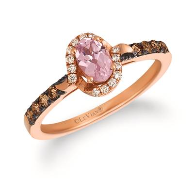 14K Strawberry Gold® Rose Spinel 3/8 cts. Ring with Chocolate Diamonds® 1/6 cts., Vanilla Diamonds® 1/15 cts. | SVFS 66