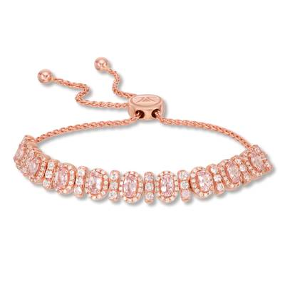 14K Strawberry Gold® Rose Spinel 2  3/4 cts. Bolo Bracelet with Vanilla Diamonds® 1/2 cts. | SVFS 69