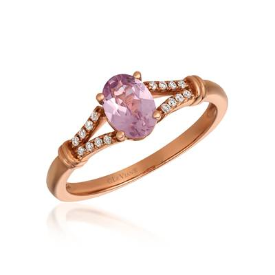 14K Strawberry Gold® Rose Spinel 5/8 cts. Ring with Vanilla Diamonds® 1/20 cts. | SVFZ 41