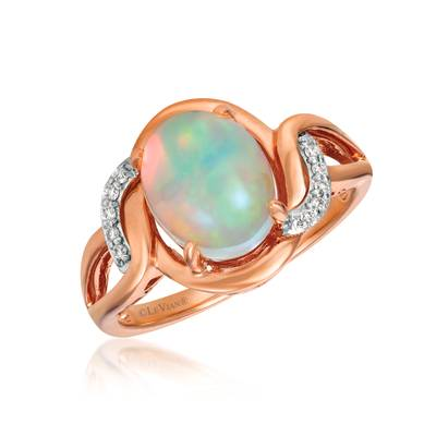 14K Two Tone Gold Neopolitan Opal™ 1  1/5 cts. Ring with Vanilla Diamonds® 1/20 cts. | SVGC 29