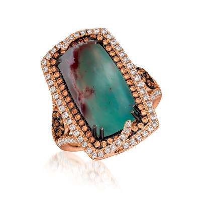18K Strawberry Gold® Aquaprase Candy 9  3/4 cts. Ring | SVHX 1