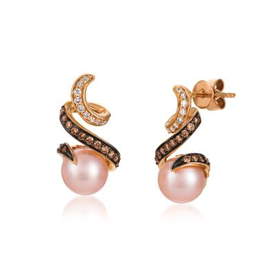 14K Strawberry Gold® Strawberry Pearls®  cts. Earrings | TQSF 40
