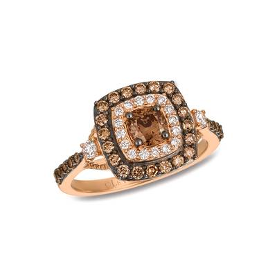 14K Strawberry Gold® Ring with Chocolate Diamonds® 3/4 cts., Vanilla Diamonds® 1/5 cts. | TQUJ 31CC