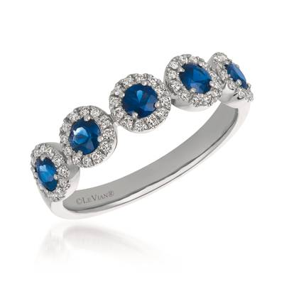 14K Vanilla Gold® Blueberry Sapphire™ 5/8 cts. Ring with Vanilla Diamonds® 1/5 cts. | TRCG 78