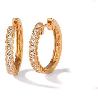 14K Strawberry Gold® Earrings with Nude Diamonds™ 5/8 cts. | TRDZ 102