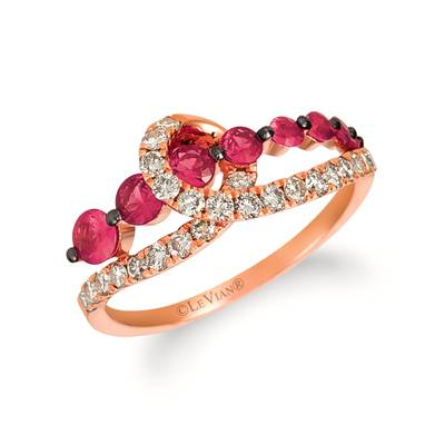 14K Strawberry Gold® Passion Ruby™ 5/8 cts. Ring with Nude Diamonds™ 1/2 cts. | TREA 17