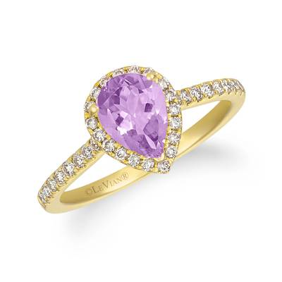 14K Honey Gold™ Cotton Candy Amethyst® 1 cts. Ring with Nude Diamonds™ 1/3 cts. | TREO 69PYYG