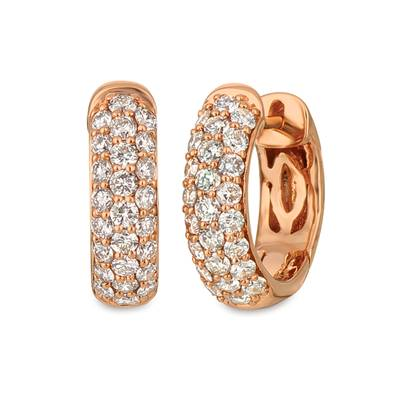 14K Strawberry Gold® Earrings with Nude Diamonds 1 cts. | TREZ 35