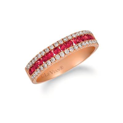 14K Strawberry Gold® Passion Ruby™ 3/8 cts. Ring with Nude Diamonds™ 1/3 cts. | TRFA 19