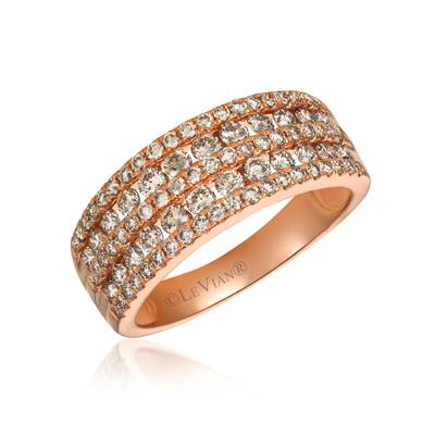14K Strawberry Gold® Ring with Nude Diamonds™ 1  1/5 cts. | TRFA 60