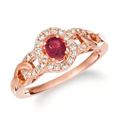 14K Strawberry Gold® Passion Ruby™ 1/3 cts. Ring with Nude Diamonds™ 1/4 cts. | TRIG 4