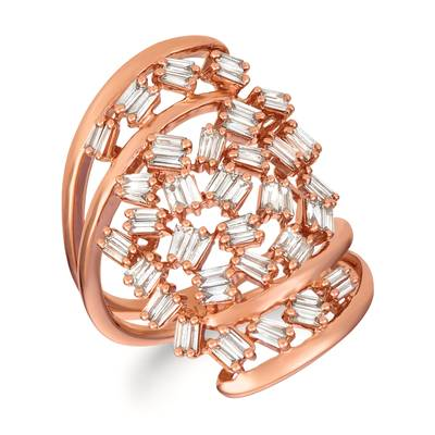 14K Strawberry Gold® Ring with Nude Diamonds™ 1  1/5 cts. | TRIL 36