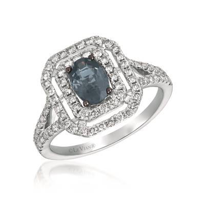 14K Vanilla Gold® Gray Spinel 3/4 cts. Ring with Vanilla Diamonds® 5/8 cts. | TRIN 10
