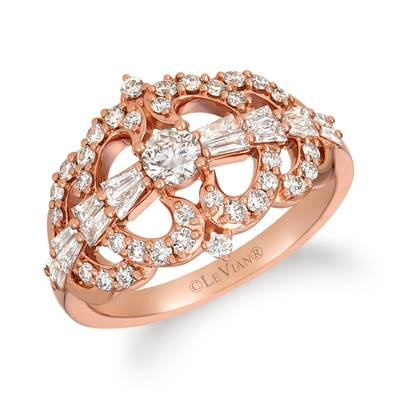 14K Strawberry Gold® Ring with Nude Diamonds™ 7/8 cts. | TRIT 34