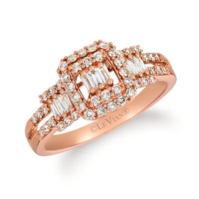 14K Strawberry Gold® Ring with Nude Diamonds 5/8 cts. | TRIT 37