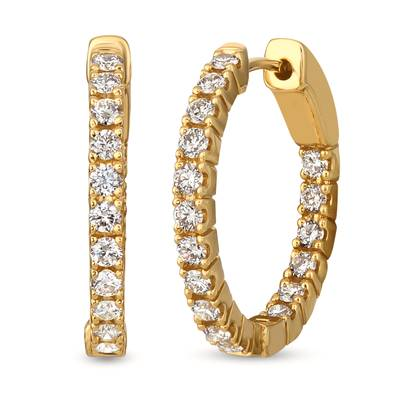 14K Honey Gold™ Earrings with Nude Diamonds™ 1 cts. | TRJH 3