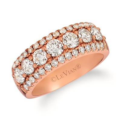 14K Strawberry Gold® Ring with Nude Diamonds™ 1  5/8 cts. | TRJI 1