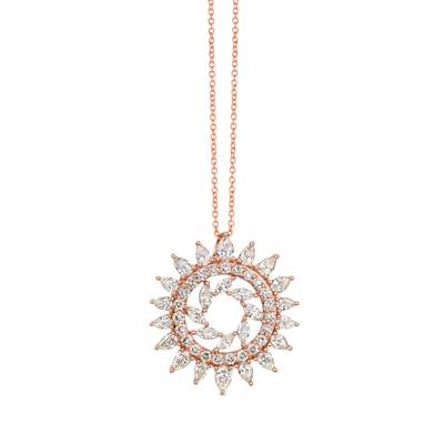 14K Strawberry Gold® Pendant with Nude Diamonds™ 1  7/8 cts. | TRJV 5