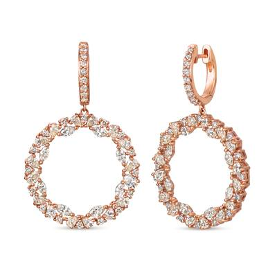 14K Strawberry Gold® Earrings with Nude Diamonds™ 3  1/8 cts. | TRJV 6